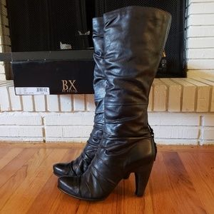 Bronx Black Leather Boot